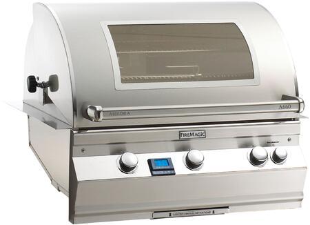 Fire Magic Aurora A660I6E1NW Natural Gas Grill Stainless Steel, Main Image Rotisserie Model with Magic View Window