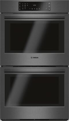 Bosch 800 Series HBL8642UC Double Wall Oven Black Stainless Steel, Main Image