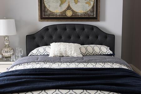 Baxton Studio Windsor BBT6620DARKGREYQUEENHBH121720 Headboard Gray, BBT6620 Dark%20Grey Queen%20HB H1217 20 4