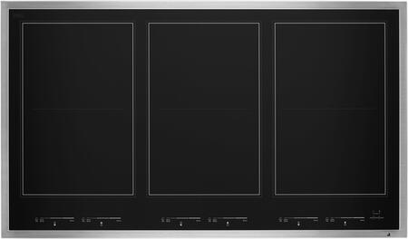 JIC4736HS Lustre 36″ Induction Flex Cooktop with 6 Elements  Emotive Controls  Magnetic Induction  Griddle  in Stainless