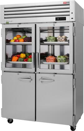 PRO-50R-GSH-N 52″ Pro Series Glass & Solid Half Door Reach-In Refrigerator with 50.8 cu. ft. Capacity  Self-Cleaning Condenser  Digital Temperature