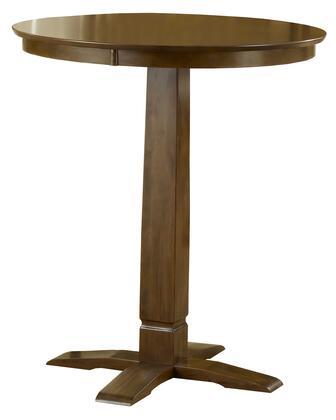 Hillsdale Furniture Dynamic 4975PTBBRN Bar Table Brown, 1