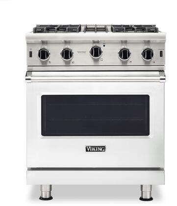 Viking 5 Series VGIC53024BFW Freestanding Gas Range White, VGIC53024BFW Gas Range