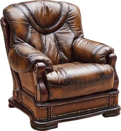 ESF Oakman I1334 Living Room Chair Brown, OAKMAN1