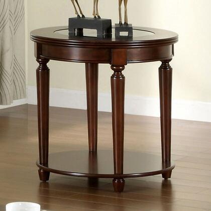 Furniture of America Granvia CM4131E End Table Brown, image 2012