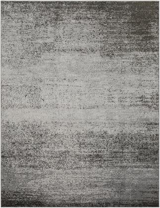 "Amadeo ADO-1008 7'10"" x 10'2″ Rectangle Modern Rugs in Light Gray  Medium Gray  Dark Brown"