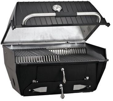Broilmaster C3 27  Charcoal Grill with Cast Aluminum Housing  Removable Ash Tray  442 sq. in. Cooking Area and Stainless Steel Rod Cooling Grids in