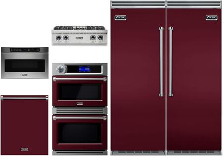 Viking 5 Series 978209 Kitchen Appliance Package & Bundle Red, main image