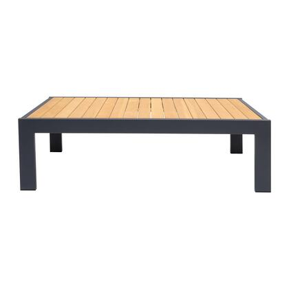 Armen Living Palau LCPACOGR Outdoor Patio Table Gray, LCPACOGR