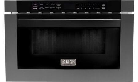 ZLINE  MWD1BS Microwave Drawer Black Stainless Steel, MWD1BS Front View