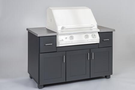 57MOD 57″ Modano Series BBQ Island with Fully Welded Extruded Aluminum Frames and Cast Aluminum Countertop in