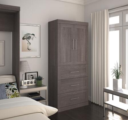 Bestar Furniture 2687847 Cabinet, bestar pur murphy bed bark grey 26878 47 room
