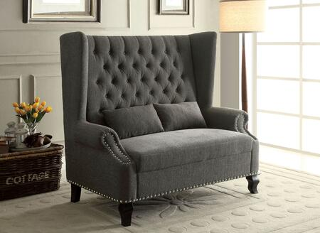 Furniture of America Alcacer CMBN6223GY Bench Gray, CM-BN6223GY