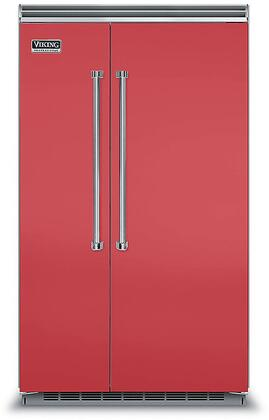 Viking 5 Series VCSB5483SM Side-By-Side Refrigerator Red, VCSB5483SM Side-by-Side Refrigerator