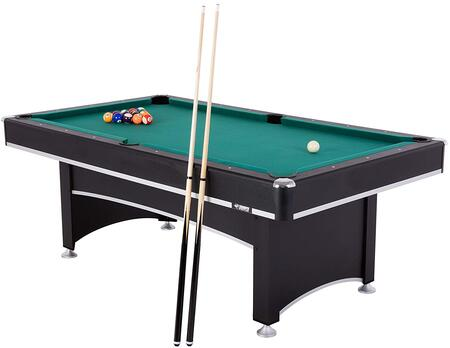 45-6840 Phoenix 7′ Billiard / Pool Table with 2 Wood Billiard Cues  Ball Set  Triangle  Brush  and Chalk /Table Tennis Conversion Top with Under