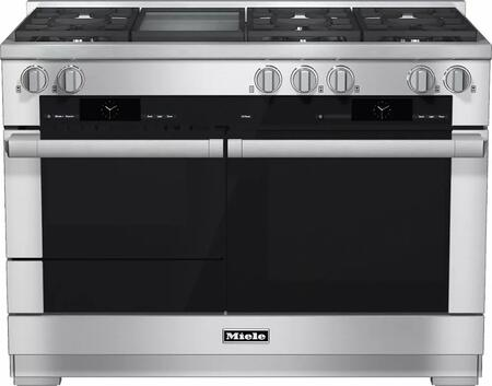 Miele M Touch HR1956DFGDLP Freestanding Dual Fuel Range Stainless Steel, Main Image