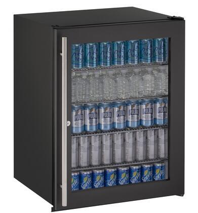 U-Line ADA Series UADA24RGLB13B Compact Refrigerator Black, Main Image