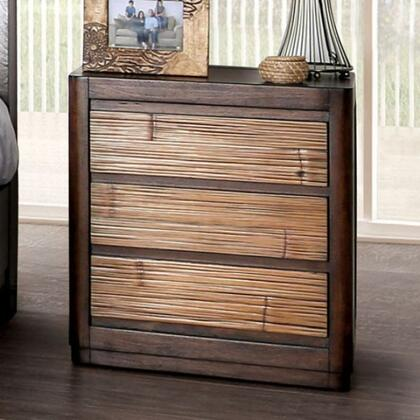 CM7522N Covilha Collection Nightstand With USB Made From Sturdy Wood Construction In Antique