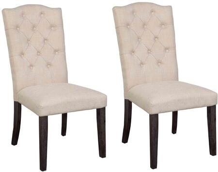 Acme Furniture Gerardo 60822 Dining Room Chair Beige, Side Chairs