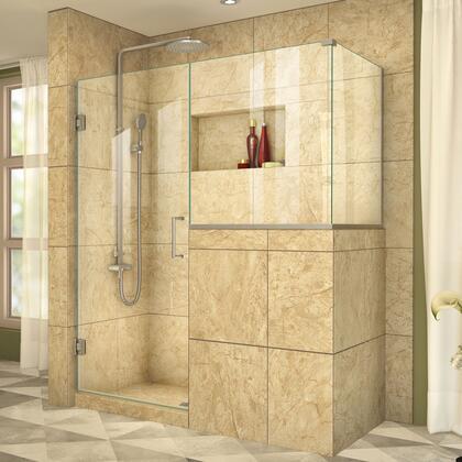 DreamLine  SHEN242430343004 Shower Enclosure , UnidoorPlus Shower Door 39 30D 30BP 30RP 04