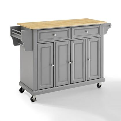 Crosley Furniture Full Size Kitchen KF30001EGY Kitchen Cart Gray, KF30001EGY W1