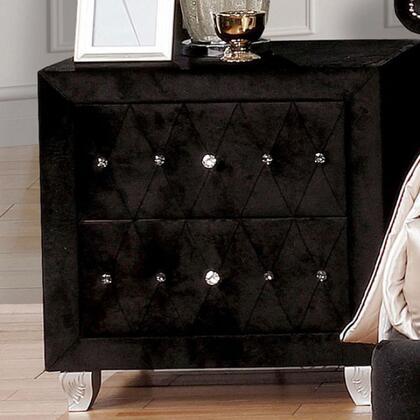 Furniture of America Alzire CM7150BKN Nightstand Black, CM7150BK-N