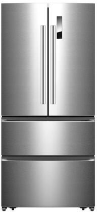 FFFFD1907-33SW 33″ Stainless Steel 4-Door French Door Refrigerator with 18.88 cu. ft. Capacity  Total Frost Free Design  Adjustable Glass Shelves and