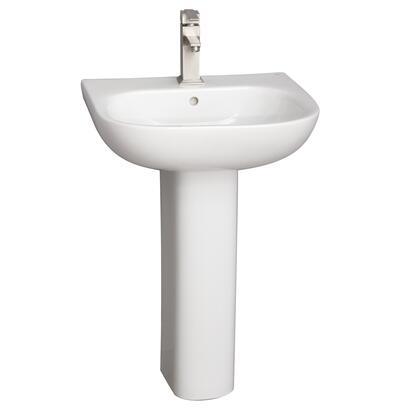 3-2021WH Tonique 450 Pedestal Lavatory  White-1