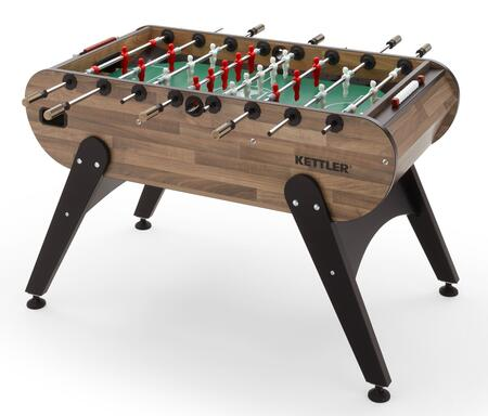 Campus 7990-900 58″ x 51″ Indoor Foosball Table with Walnut Block Laminated Cabinet  Durable Melamine Playing Field and Integrated Ball