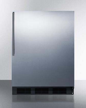 "CT663BKBISSHVADA 24"" Compact Refrigerator with 5.1 cu. ft. Capacity ADA Compliant Cycles Defrost Professional Handle Door Storage Wine Shelf"