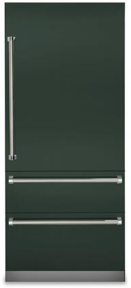 Viking 7 Series VBI7360WRBF Bottom Freezer Refrigerator Green, VBI7360WRBF Fully Integrated Bottom-Freezer Refrigerator