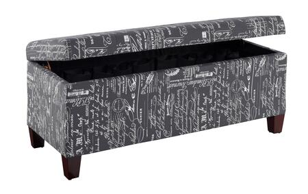 Linon Carmen 40602SCRPLIN01KD Living Room Ottoman Black, 40602SCRPLIN 01 KD U Open