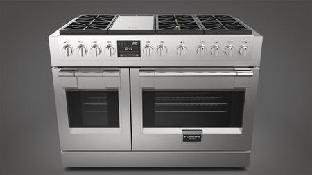 Fulgor Milano Sofia F6PDF486GS1 Freestanding Dual Fuel Range Stainless Steel, Main Image