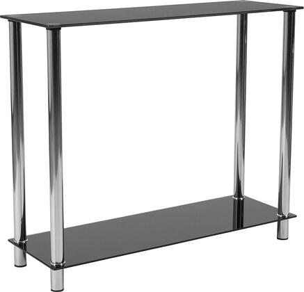 Flash Furniture Riverside Collection HG112350GG Console Black, HG 112350 GG