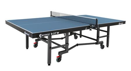 S8-37W Sponeta Super Compact W 108″ x 60″ Table Tennis Table ITTF Tournament Approved with 25mm Multi-Coated Wooden Top  Powder Coated 60mm Profile