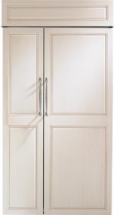 "Monogram  ZIS420NNII Side-By-Side Refrigerator Panel Ready, ZIS420NNII 42"" Smart Built-In Side-by-Side Refrigerator"