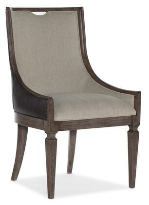 Hooker Furniture Woodlands 58207550084 Dining Room Chair Beige, Silo Image