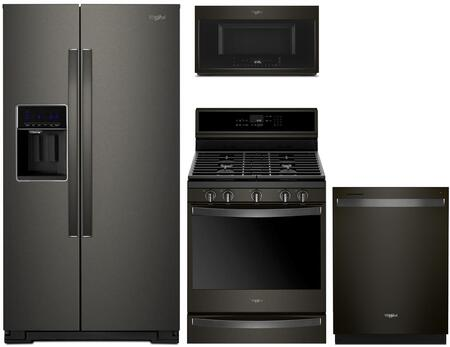 Whirlpool 1054322 Kitchen Appliance Package & Bundle Black Stainless Steel, Main Image