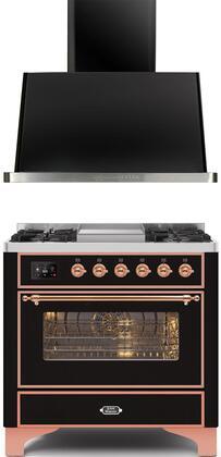 Ilve  1260303 Kitchen Appliance Package Black, Main image