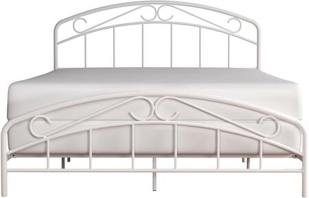 Jolie Collection 2586-500 Metal Queen Bed with Arched Scroll Design and welded construction in