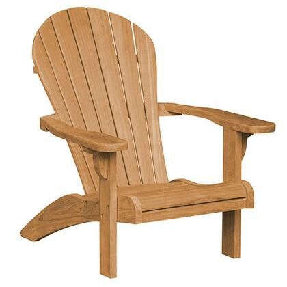 Seacoast Adirondack Collection DN-1511 Chair with Teak Construction  Stainless Steel and Brass Hardware  Mortise and Tenon Joinery in Honey