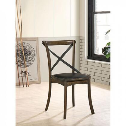 Furniture of America Buhl I CM3148SC2PK Dining Room Chair Brown, cm3148sc 2