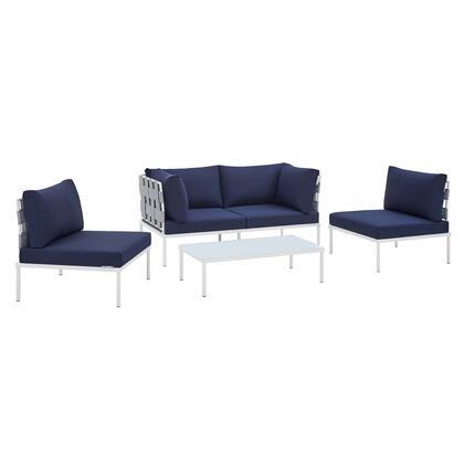Modway Harmony EEI4691GRYNAVSET Outdoor Patio Set Blue, EEI 4691 GRY NAV SET 1