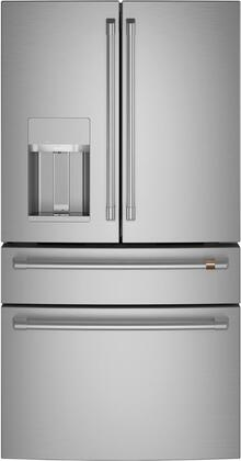 Cafe  CVE28DP2NS1 French Door Refrigerator Stainless Steel, Front View