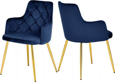 Meridian Salvatore 757NAVY Dining Room Chair Blue, 757NAVY Main Image