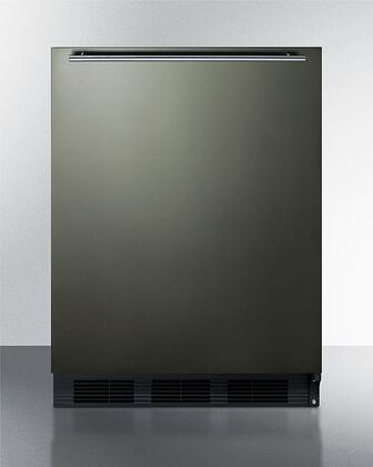 Summit  CT663BKBIKSHH Compact Refrigerator Black Stainless Steel, CT663BKBIKSHH Compact Refrigerator