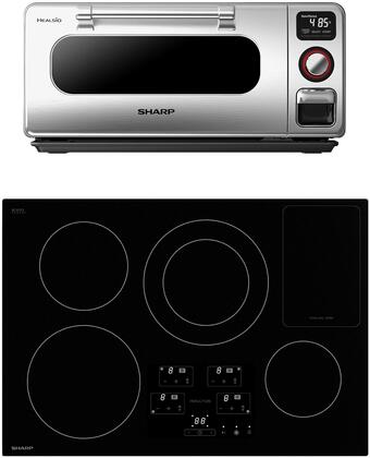 2 Piece Kitchen Appliances Package with SDH3042DB 30″ Electric Induction Cooktop and SSC0586DS 20″ Superheated Steam Countertop Oven in Stainless