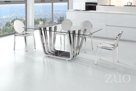 Zuo Eclipse 100550 Dining Room Chair Stainless Steel, 100325 100550 lifestyle
