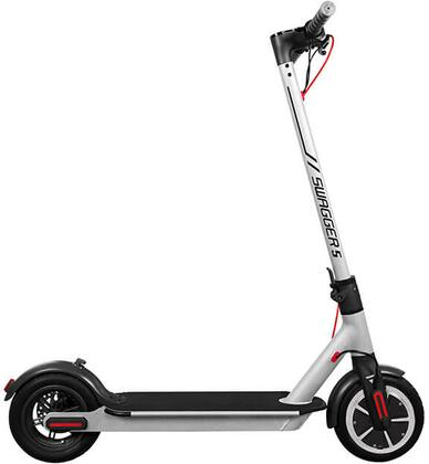 SG5WHT Swagger 5 Elite Electric Smart Scooter with 3 Speeds  LED Display and iOS/Android Companion App in