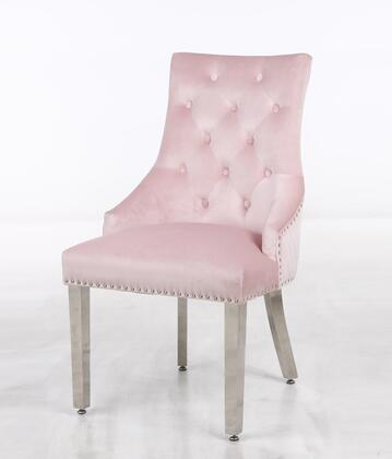 Cosmos Furniture Leo Series 2025PILEO Accent Chair Pink, DL 41b616f238ce0bf48f9d1468b06d
